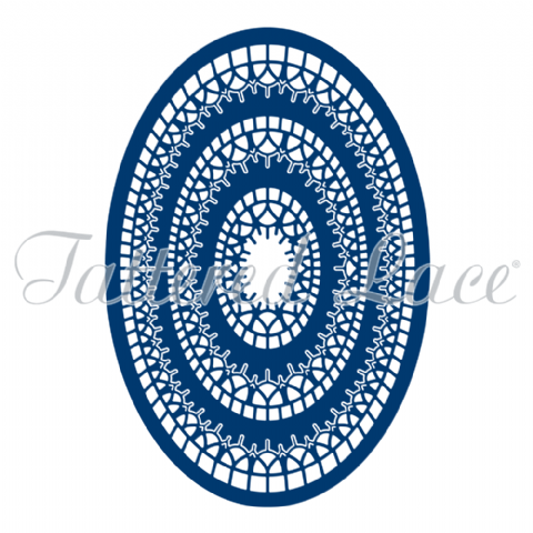 Tattered Lace Essentials - Lacy Layers Ovals - ETL76